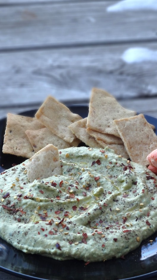 Hummus parsley dip