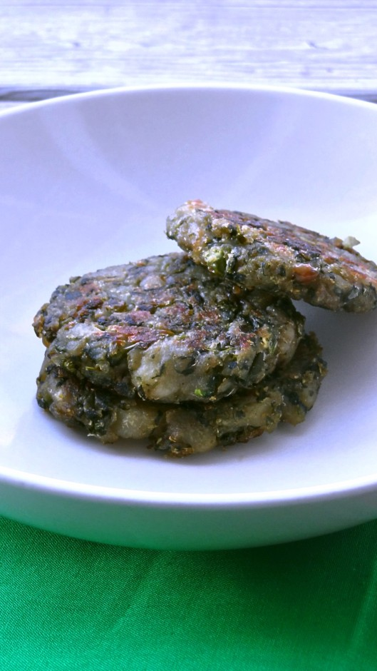 Spinach and green peas cutlets 2